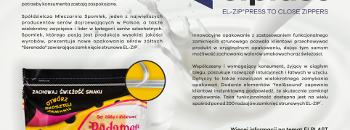 New Spomlek's Serenada Cheese package features highly functional zipper!